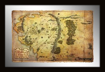 The Hobbit - Middle Earth Map Mirror