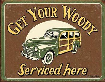 MOORE - WOODY SERVICE Plaque métal décorée