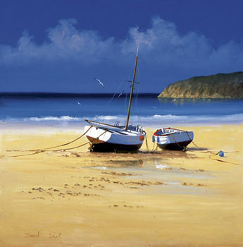 Moorings Low Tide Reproduction d'art