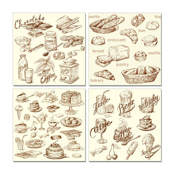 Café and Bakery Mounted Art Print