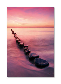 Pier from stones Mounted Art Print