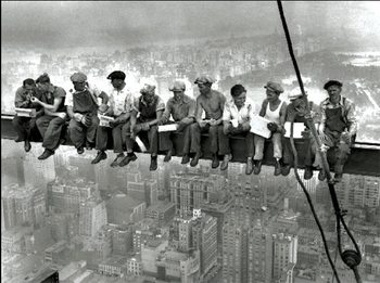 New York - Lunch on a skyscraper Reproduction