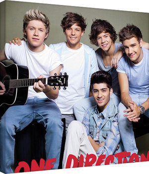 One Direction - guitar Canvas Print