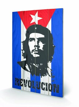 Pintura em madeira CHE GUEVARA - flag