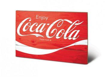 Pintura em madeira Coca-Cola - Logo