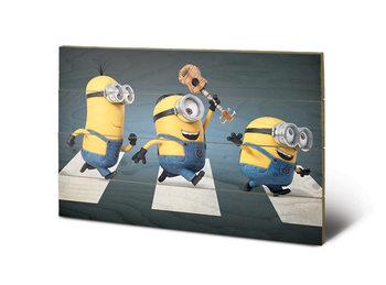 Pintura em madeira Despicable Me - Abbey Road