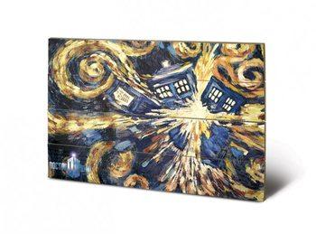 Pintura em madeira Doctor Who - Exploding Tardis