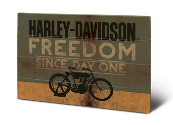 Pintura em madeira HARLEY DAVIDSON - freedom