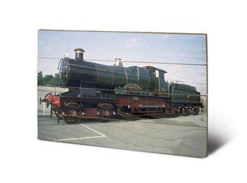 Pintura em madeira Tank Engine - City of Truro
