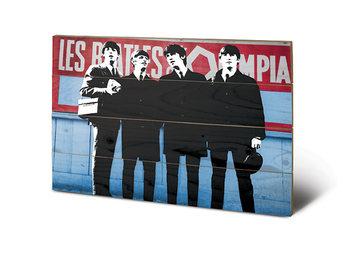 Pintura em madeira The Beatles In Paris