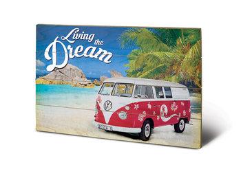 Pintura em madeira VW - Living the Dream