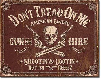 Placa de metal DTOM - Gun for Hire