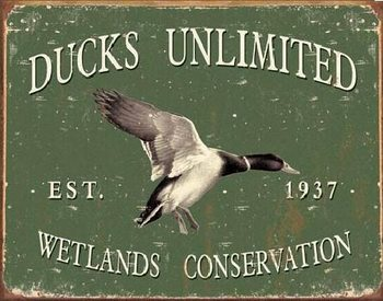 Placa de metal DUCK UNLIMITED SINCE 1937