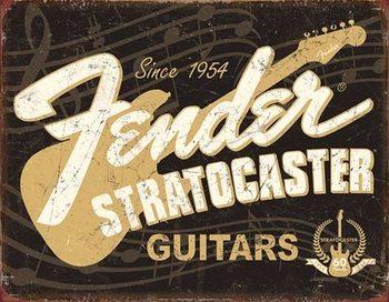 Placa de metal Fender - Stratocaster 60th