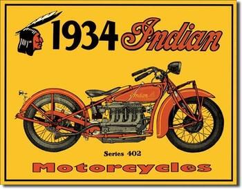 Placa de metal INDIAN - motorcycles