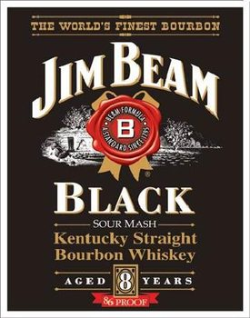 Placa de metal JIM BEAM - Black Label
