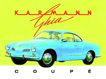 Placa de metal KARMANN GHIA
