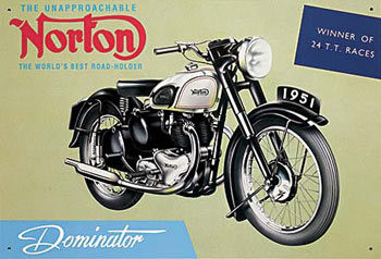 Placa de metal NORTON DOMINATOR