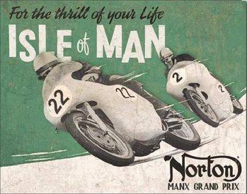 Placa de metal NORTON - Isle of Man