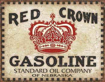 Placa de metal Red Crown - Checker