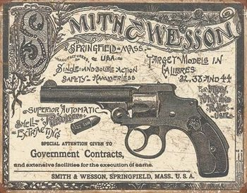 Placa de metal S&W - 1892 Gov. Contracts