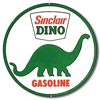 Placa de metal SINCLAIR DINO GASOLINE