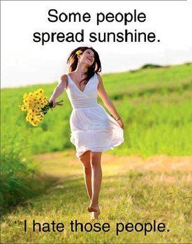 Placa de metal Spread Sunshine
