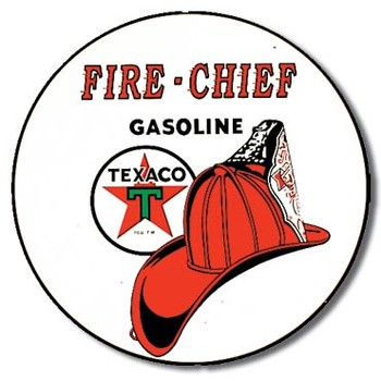 Placa de metal TEXACO - fire chief