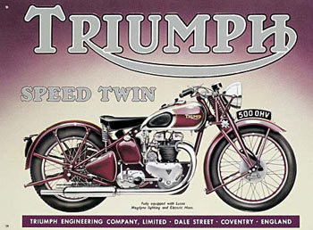 Placa de metal TRIUMPH SPEED TWIN