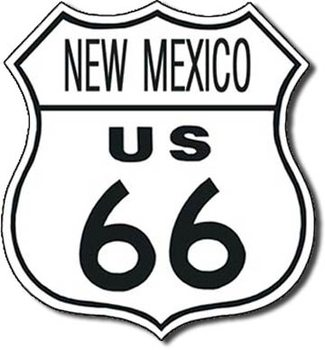 Placa de metal US 66 - new mexico
