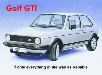 Placa de metal VW GOLF GTI
