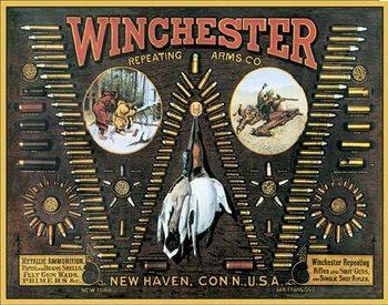Placa de metal WINCHESTER - Bullet Board