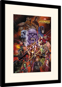Avengers Infinity War - Gauntlet Character Collage Framed poster