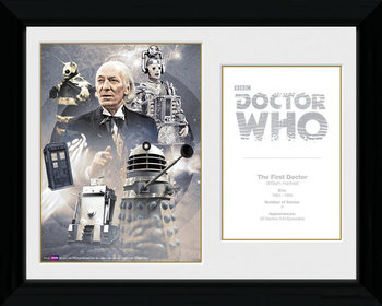 Doctor Who - 1st Doctor William Hartnell Framed poster
