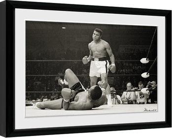 Muhammad Ali - Liston Framed poster