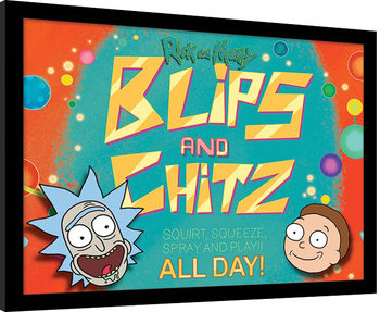 Rick and Morty - Blips and Chitz Framed poster