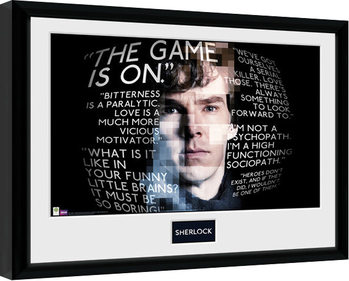 Sherlock - Sherlock Quotes Framed poster