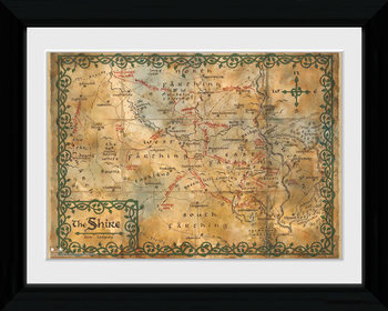 The Hobbit - Map plastic frame