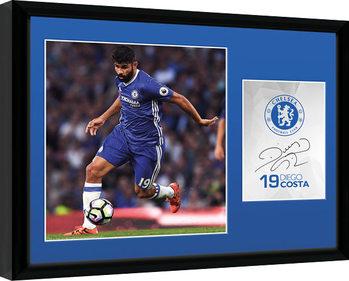Chelsea - Costa 16/17 Poster encadré en verre