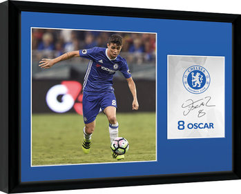 Chelsea - Oscar 16/17 Poster encadré en verre