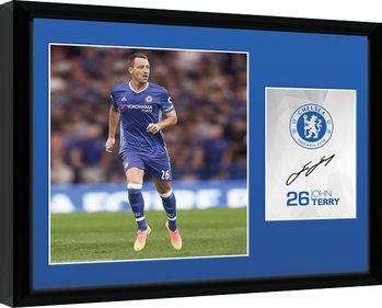 Chelsea - Terry 16/17 Poster encadré en verre