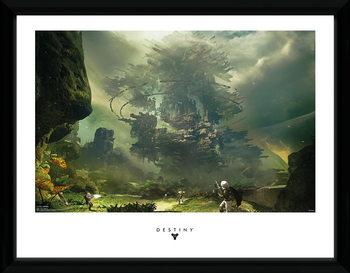 Destiny - The Fortress Poster encadré en verre