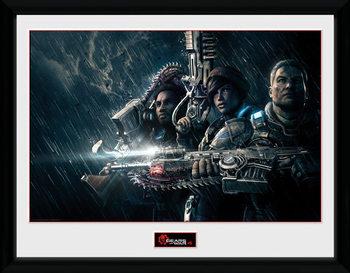 Gears of War 4 - Landscape Poster encadré en verre
