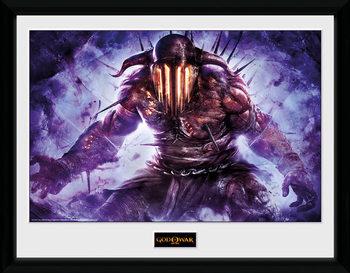 God of War - Hades Poster encadré en verre
