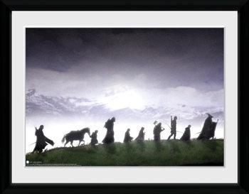 Le Seigneur des anneaux - Fellowship Poster encadré en verre