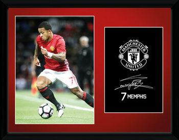 Manchester United - Mamphis 16/17 Poster encadré en verre