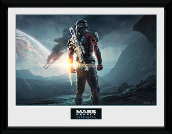 Mass Effect Andromeda - Landscape Poster encadré en verre