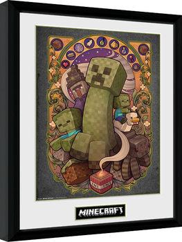 Minecraft - Creeper Nouveau Poster encadré en verre