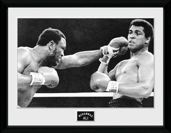 Muhammad Ali - Block Poster encadré en verre