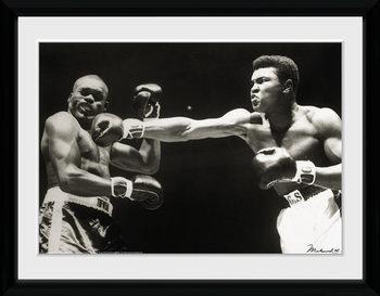 Muhammad Ali - Connect Poster encadré en verre